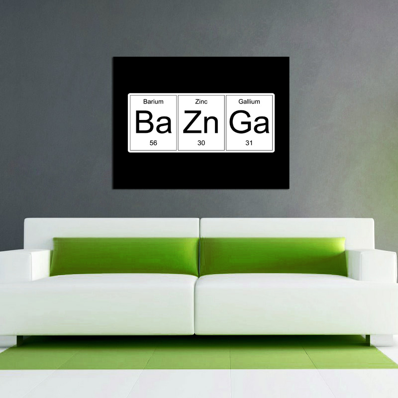 BaZnGa (The Big Bang Theory Inspired) - Available as a Poster or Vinyl Decal - SHIPS FREE!