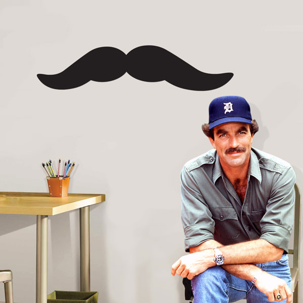 Giant Mustache Repositionable Wall Cling - Ships Free!