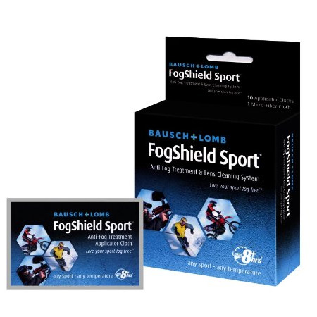 Bausch & Lomb Fogshield Sport Anti-fog Treatment and Lens Cleaning System - 10-Count