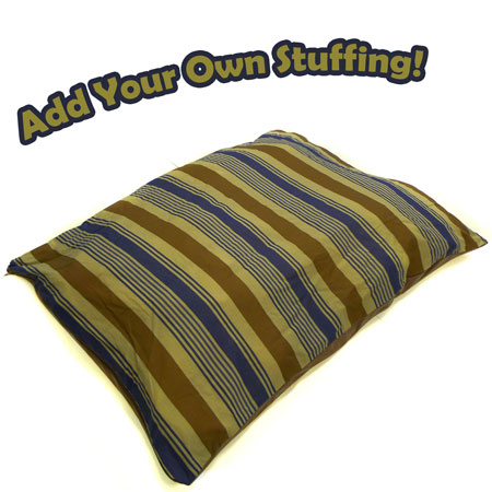 Extra Large Blue Striped 'Add Your Own Stuffing' Dog Bed - Ships Free!