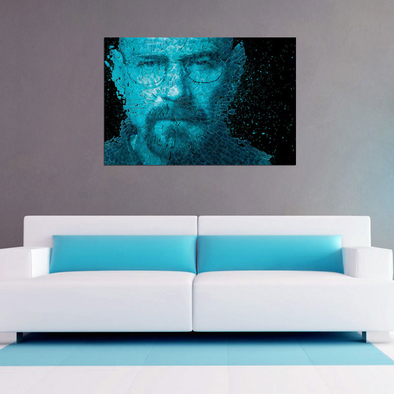 Breaking Into Pieces (Breaking Bad Inspired) Poster - 2 Sizes Available and Ships Free!