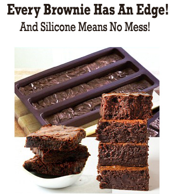 Silicone All Edges Brownie Edge Pan - Every Brownie Has an Edge! - SHIPS FREE!