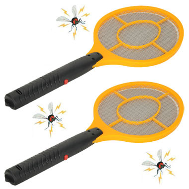 2 Pack - Electric Bug Zapper Rackets - SHIPS FREE!