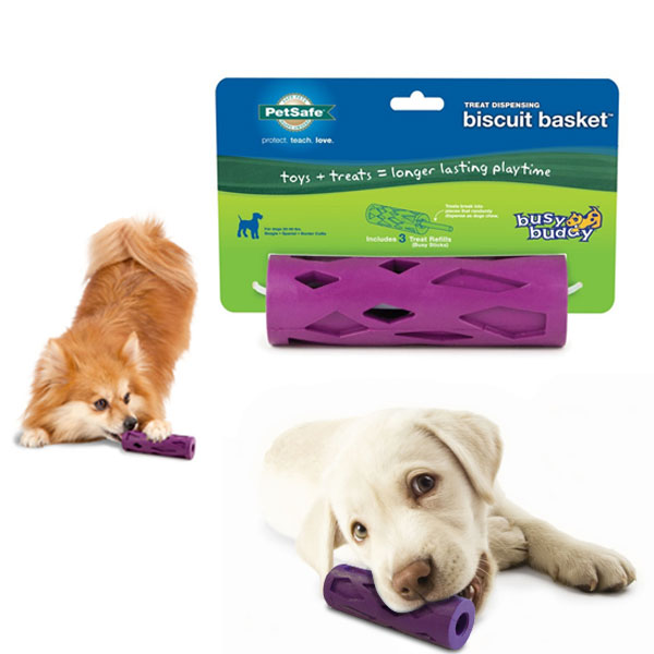 Busy Buddy Biscuit Basket Treat Dispensing Chew Toy Small Size - SHIPS FREE!