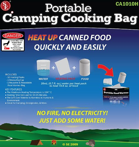 The Amazing Portable / Reuseable Camping Cooking Bag- No Fire, No Electricity! Just Add Water! - SHIPS FREE!