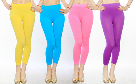 Stretch Capri Seamless Leggings - Choose From Fun Colors! - SHIPS FREE!