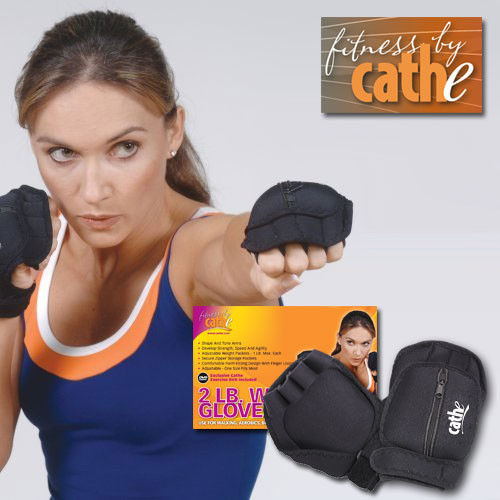 Fitness by Cathe 2 lb. Weighted Gloves w/ Exercise DVD