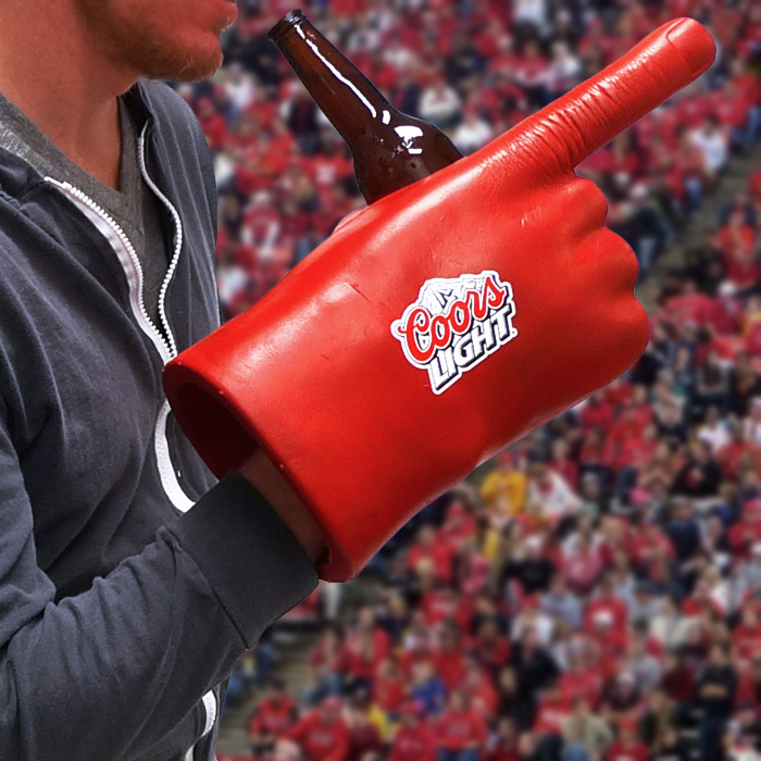 Coors Light Giant Foam Hand Drink Holder - SHIPS FREE!