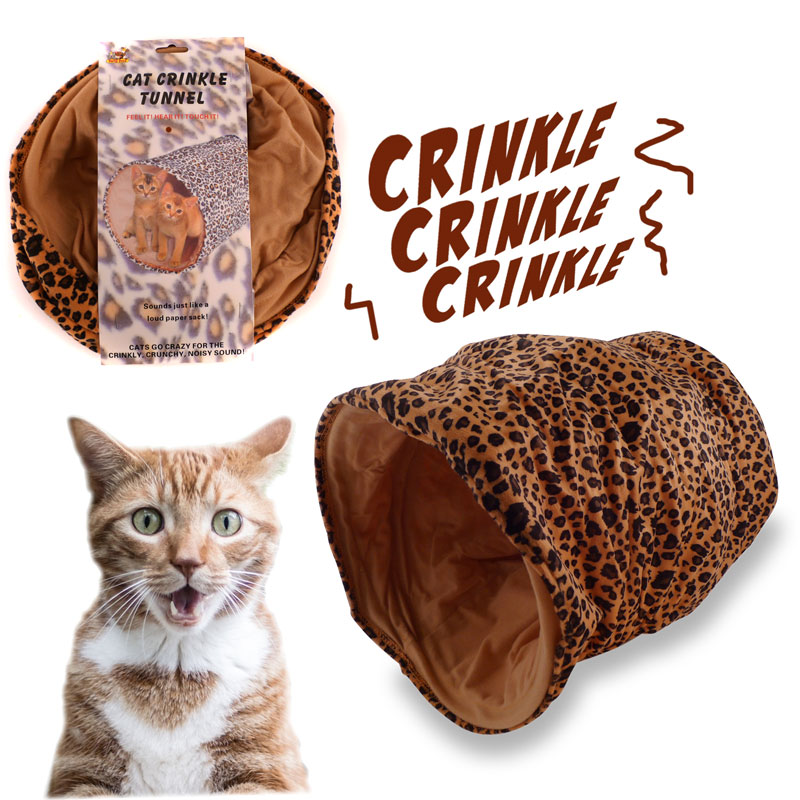 Cat Crinkle Cave - The Crinkling Sound Drives Cats Mad! Ships FREE