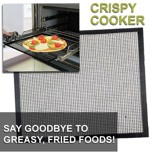 Crispy Cooker Non-Stick Baking Sheet - Crispy Food Without The Frying! - SHIPS FREE!