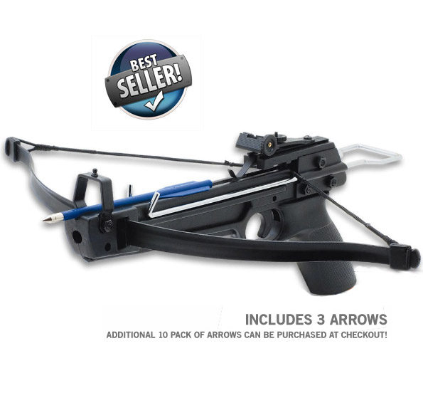50Lbs Draw Pistol Grip Crossbow W/ Arrows