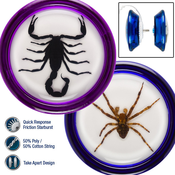 Razor Pocket Pros Yo-Yo Creeper or Stinger - With Real Spiders or Scorpions Encased!