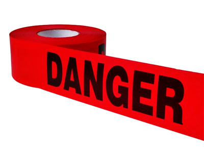 Red DANGER Barricade Tape - 1000ft! SHIPS FREE!