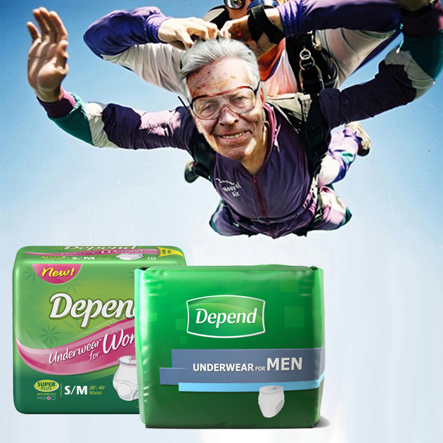 Depend Underwear For Men & Women