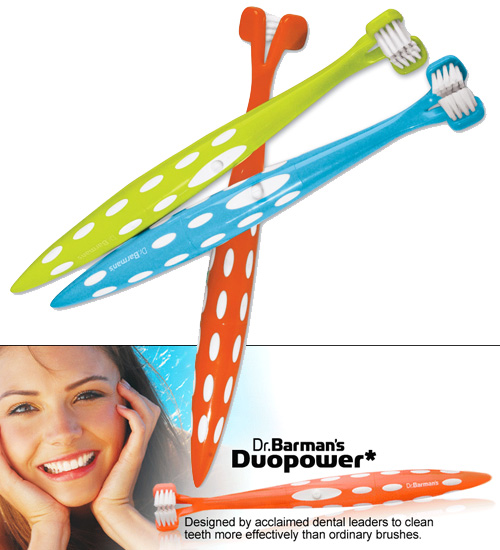 Dr. Barman's Duopower Sonic Toothbrush - DuoPower To The People! - SHIPS FREE!