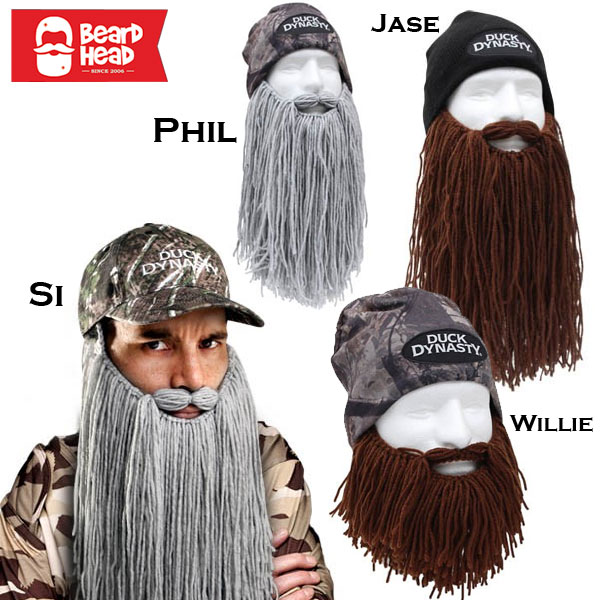 Duck Dynasty Beard  Beanie Caps by Beard Head - Si, Phil, Jase and Willie Available - Ships FREE