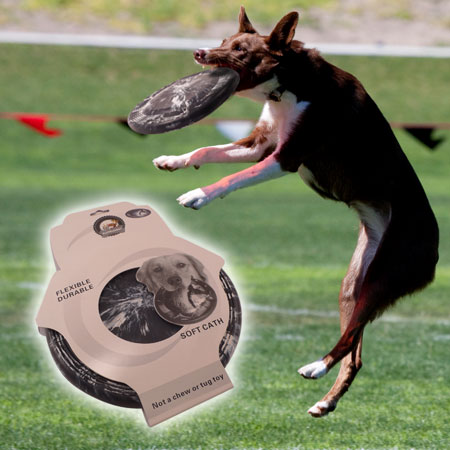 9in Soft & Durable Rubber Dog Frisbee - SHIPS FREE!