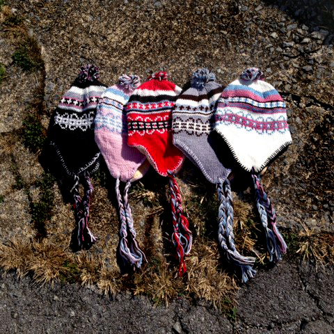 FREE - 2 Pack Knit Earflap Winter Hats