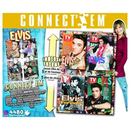 ELVIS Connect -Em Puzzle - 4 Puzzles Connect Into 1 5ft Puzzle!