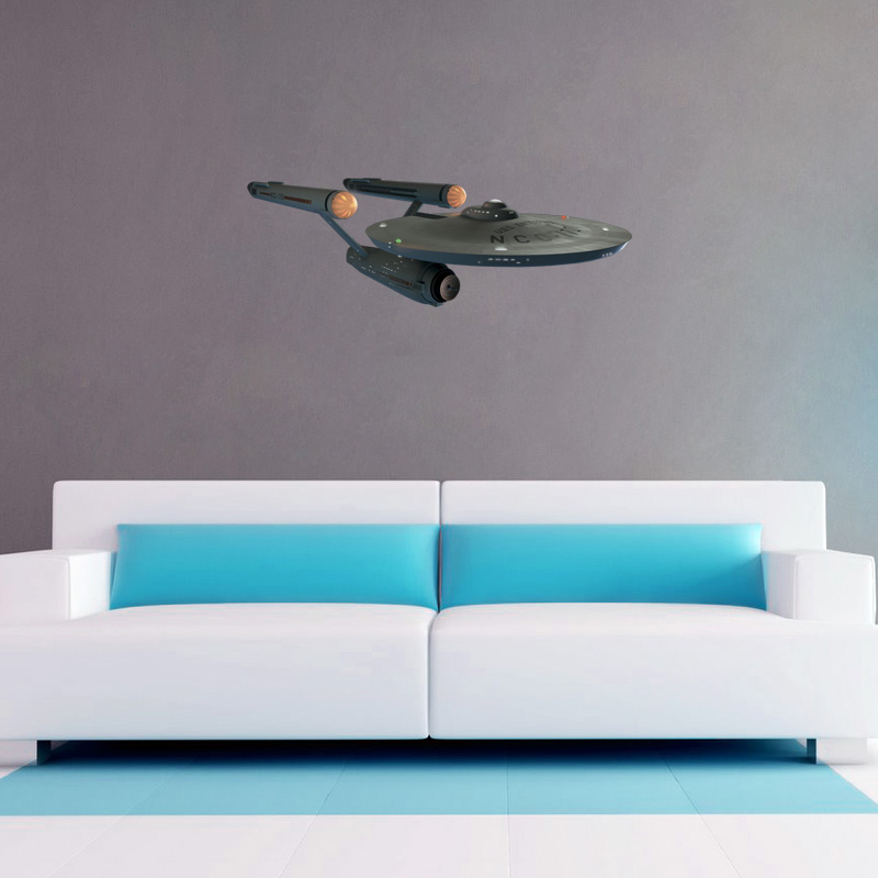 USS Enterprise Wall Cling - SHIPS FREE!