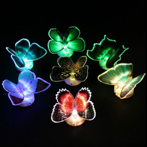 Fiber Optic Light-Up Butterfly Set of 3 - For Parties, Decor & More!