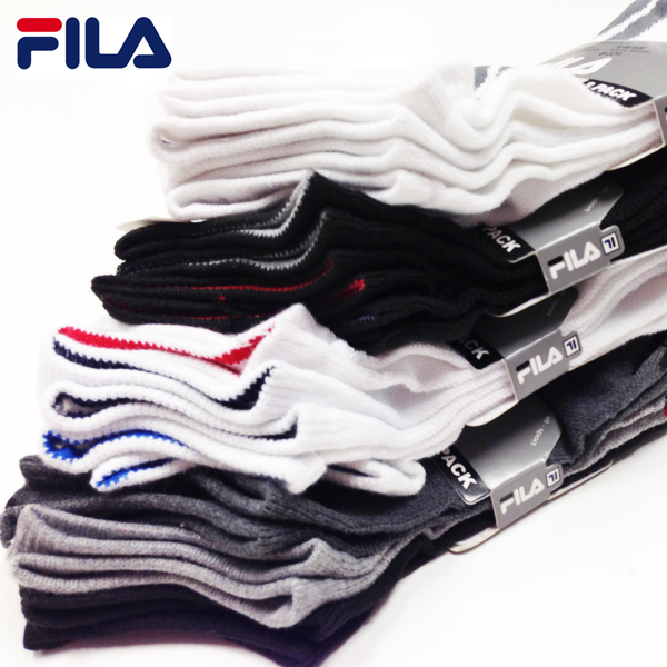 12 Pairs - Men's or Women's Fila Performance No Show Socks - As low as $ .83 Per Pair! SHIPS FREE!