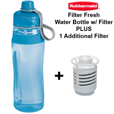 Rubbermaid Filter Fresh Water Bottle w/ Extra Filter