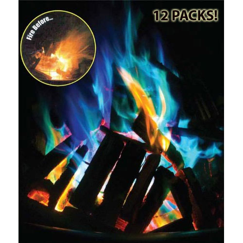 Big Fire - Amazing Color Changing Fire Packets 12 Pack - SHIPS FREE! - SEE THE VIDEO! (Qnty Discounts Apply! The More You Order, The More You Save!)