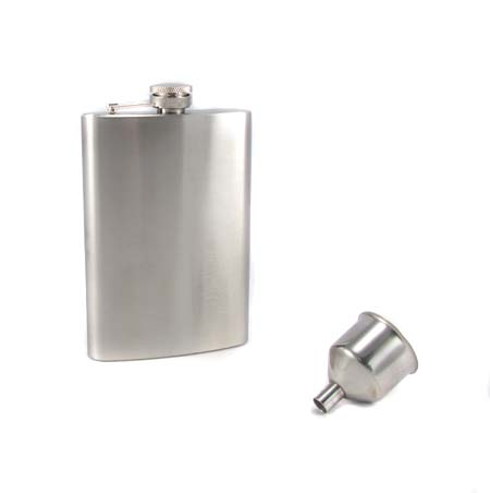 Stainless Steel Flask and Funnel Set