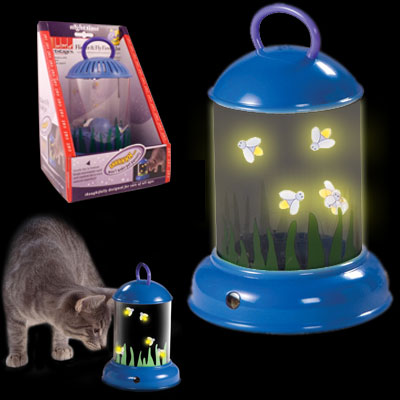 Petstages Nighttime Flicker & Fly Firefly Jar - Keeps Your Cat Entertained at Night! SHIPS FREE!