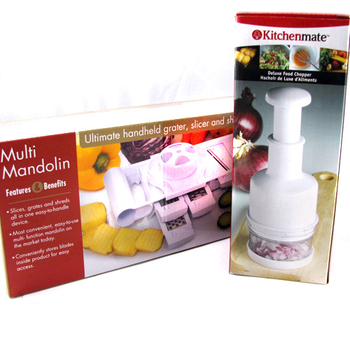 Multi Mandolin & Food Chopper Kitchen Set - Chop, Cut, Slice & Dice Your Way To Faster Meals!- SHIPS FREE!