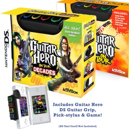 Guitar Hero On Tour / Decades - Nintendo DS Bundle - SHIPS FREE!