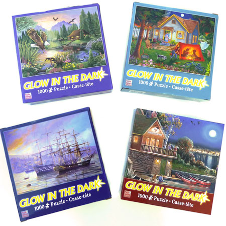Glow-in-the-Dark 4 Puzzle Set - 1000 pc. Each!