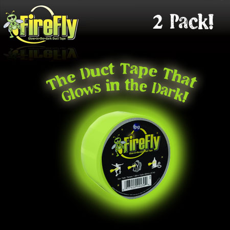 2 Pack - Glow in the Dark Duct Tape - 2 Styles Available! - SHIPS FREE!