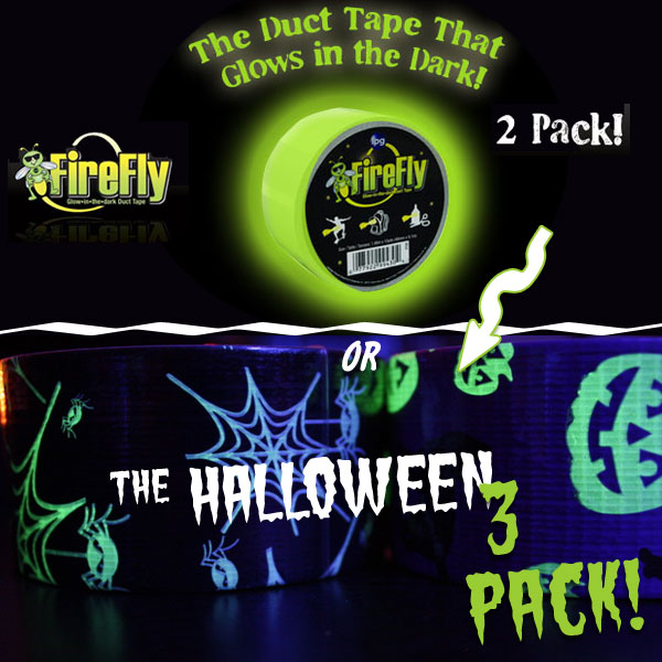 2 or 3 Pack - Glow in the Dark Duct Tape - SHIPS FREE!