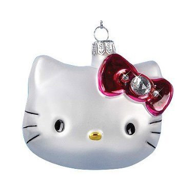 Hello Kitty Hand-Crafted Glass Christmas Ornament