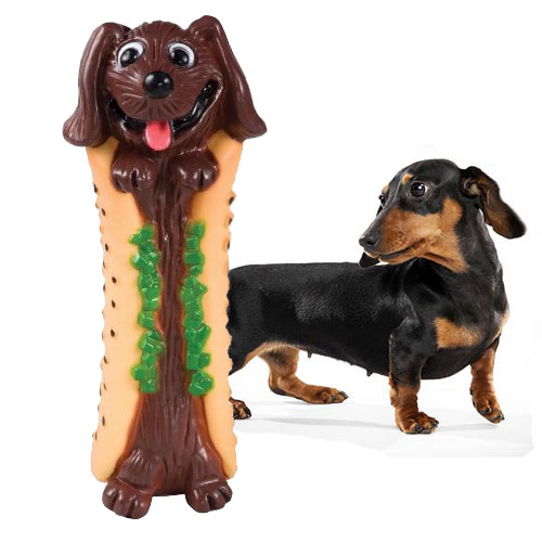 Lil' Hot Diggity Dog Chew Toy by Petstages