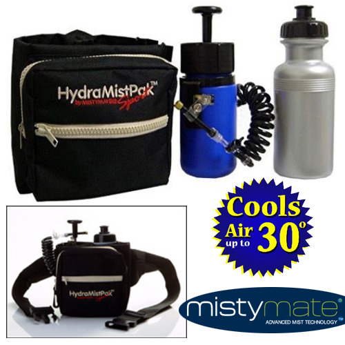 HydraMist Sport Pak by MistyMate - Cools Air Up To 30 Degrees!