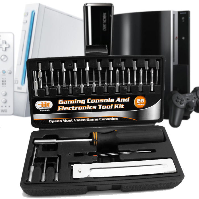 28pc Gaming Console and Electronics Tool Kit