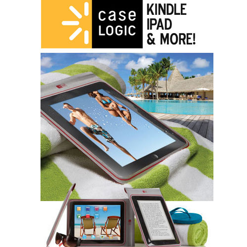 Case Logic Water Resistant Case Cover Sleeve for Tablet or eReader! SHIPS FREE