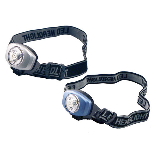 LED Headlamp 2 Pack - Adjustable Headband - Batteries Included