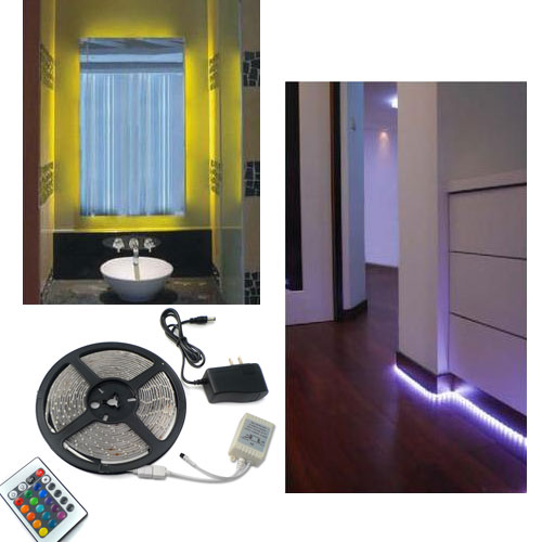 16 Foot LED Strip - Remote Control with Adjustable Color - Ships FREE!