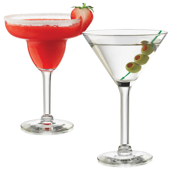 Libbey 12 Piece Entertaining Glasses - Martini or Margarita - SHIPS FREE!