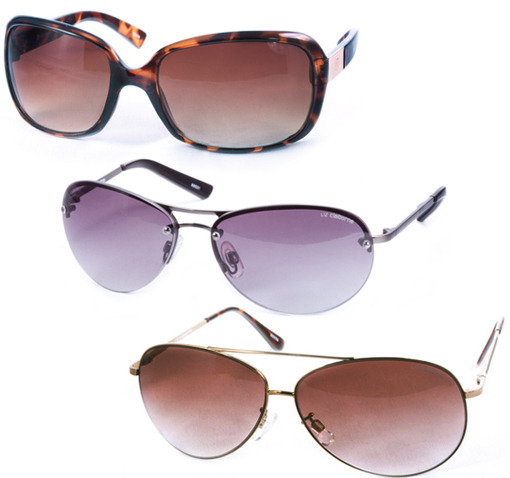 3 Pack Of Assorted Name Brand Ladies Sunglasses - SHIPS FREE!
