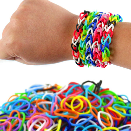 900 Pack of Colorful Loom Bands! - Endless Possibilities! SHIPS FREE