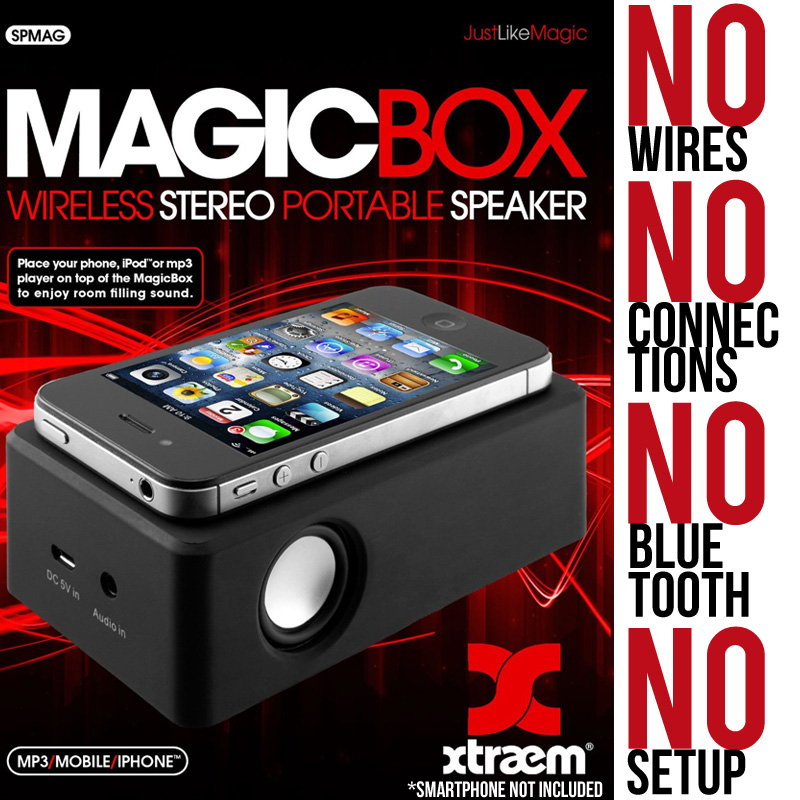 Magic Box: The Wireless Stereo Portable Speaker - SHIPS FREE!