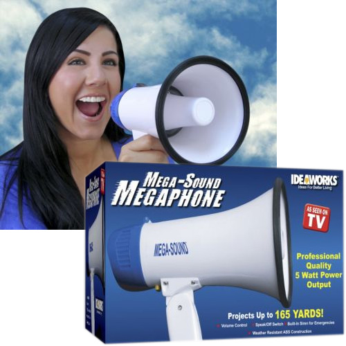 Mega-Sound Megaphone - As Seen On TV!