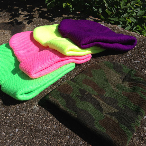 Beanie Hats - Neon & Camo Available! SHIPS FREE