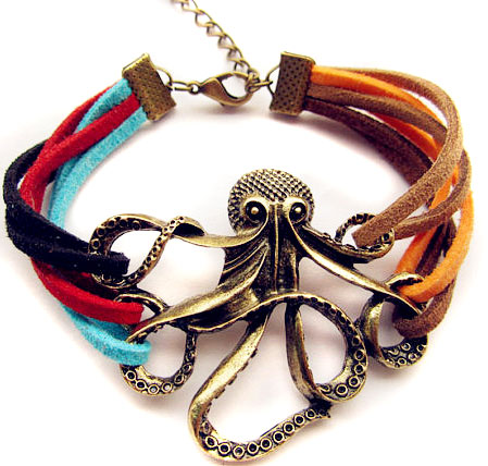 Leather Octopus Bracelet - Ships Free!