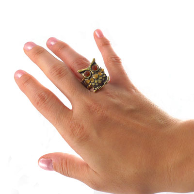 Vintage Styled Owl Ring - SHIPS FREE!